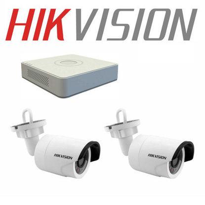 Bộ 2 Camera Hikvision Ngoài Trời 1Mp